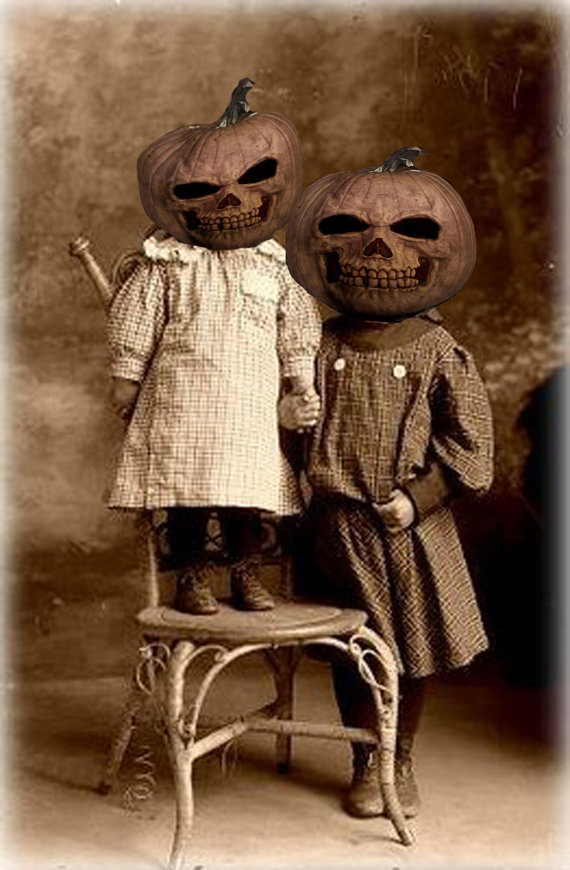 Vintage Halloween costumes are creepy.