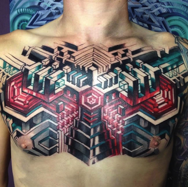 biomechanical tattoos from the awesome mike cole faux