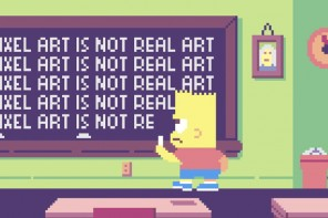 The Simpsons Get Pixelated